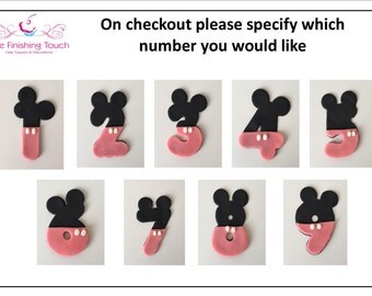 1 x Edible Fondant Minnie Mouse Number Cake Topper