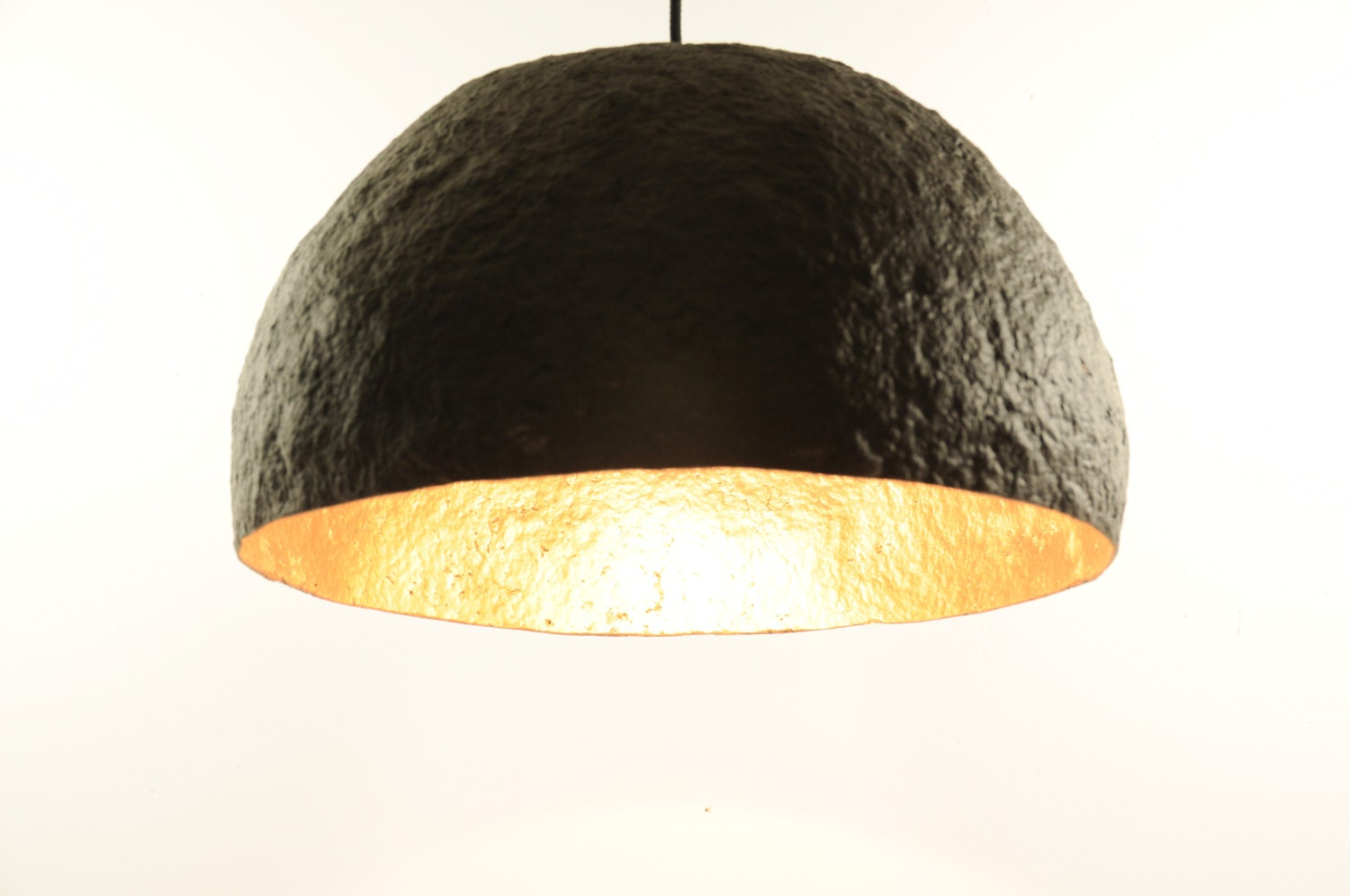 New 2016 hanging paper mache lamp black and by for How to make paper mache lamps