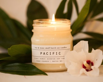Pacific Soy Candle - White Sage and Sea Salt California Inspired Candle Spring Pacific Northwest