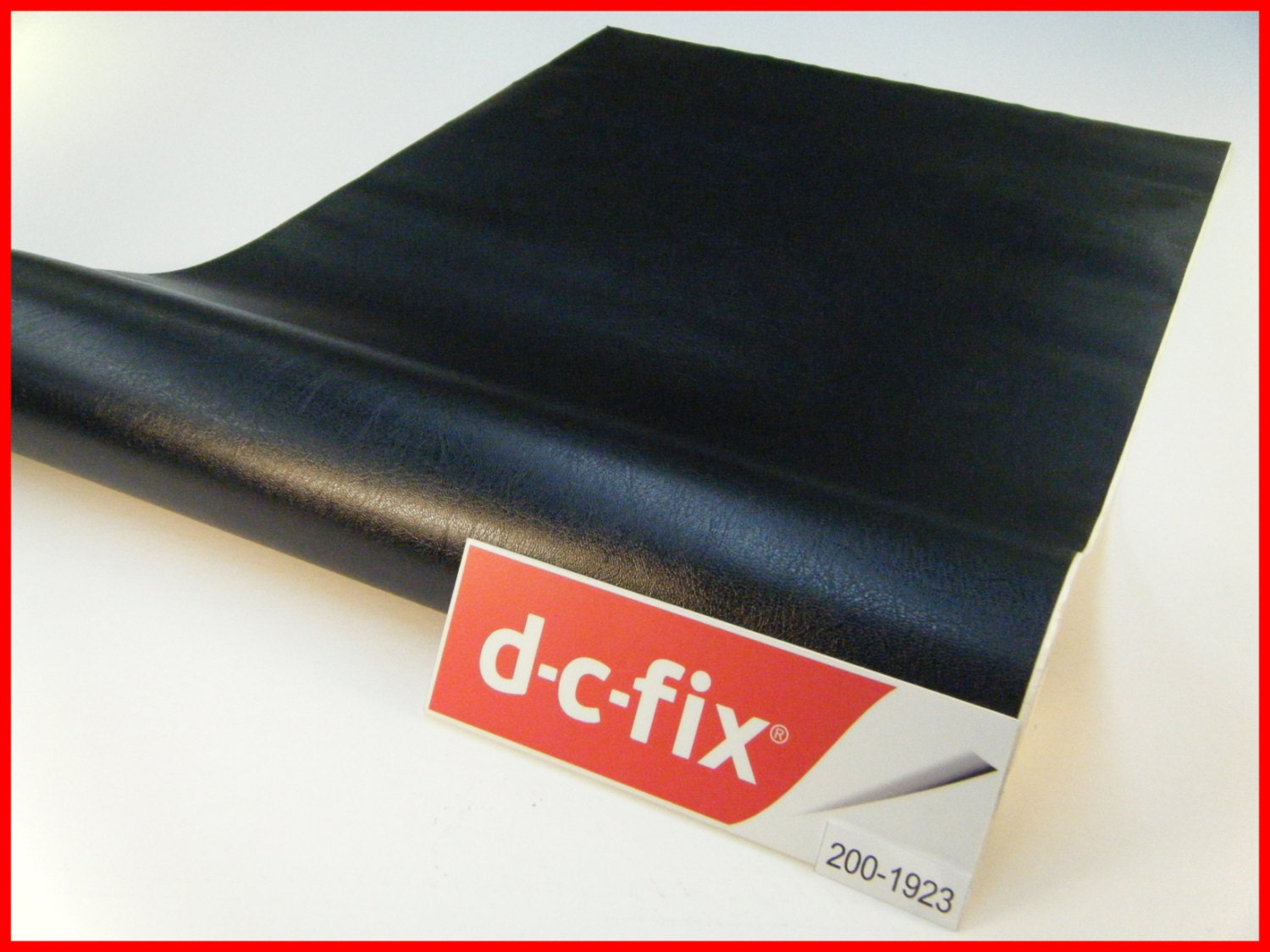 DC FIX Black Leather Effect 1m x 45cm Sticky Back Self