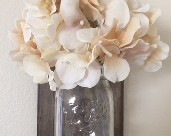 Mason jar vase wall decor