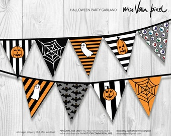 Halloween Party Garland Pack Printable