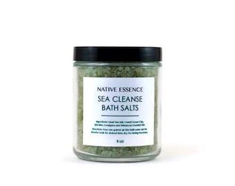 Bath Salts - Dead Sea Salts - Bath Soak - All Natural Skin Care - Natural Skincare - Bath And Beauty - Organic Skincare - French Green Clay