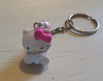 Hello Kitty Keychain with star and glass beads!