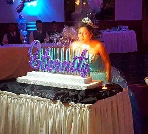 Sweet candelabra quinceanera mitzvah candle lighting
