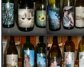 Custom Photo Wine Bottle
