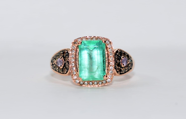 Glamorous Levian 3 75tcw Colombian Emerald Amp Diamond 14kt