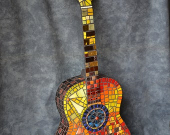 Mosaic Guitar. Firelight
