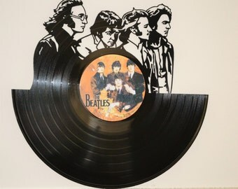 The Beatles 2 - Vinyl Record Wall Art