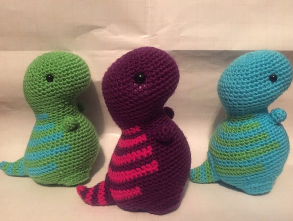 Crochet Patterns Free Doll Clothes : MADE TO ORDER amigurumi dinosaur/ T. rex plush by ...