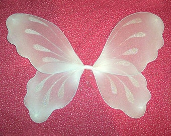 White fairy wings - Fairy wings costume - Childrens fairy wings - Baby fairy wings - Large fairy wings - Fairy wings - You choose the size!