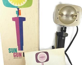 Sylvania Sun Gun II Model SG-55 Vintage Movie Light (Original Box and Manual)