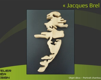 "Portrait fretwork ""Jacques Brel"""