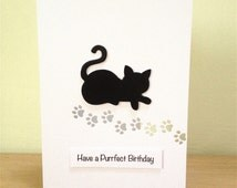 Cat Purrfect Birthday Card - Cat Birthday Card - Handmade Birthday Card - Cat Card - Greeting Card - Cat Lover - Crazy Cat lady