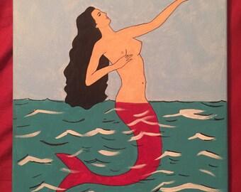La Sirena Loteria Painting