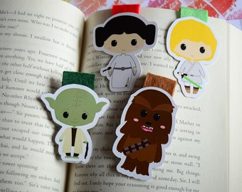 Star wars magnetic bookmark Leia Luke skywalker Chewaca Yoda