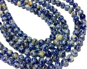 6mm Sodalite Gemstone Beads - 14.5inch Full strand - Round Gemstone Beads