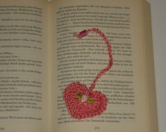 """Heart"", handmade, crocheted bookmarks"