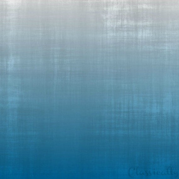 Blue Distressed Ombre Background or Printable Paper Digital File Only
