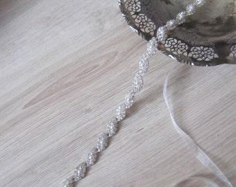 Bridal belt sash, wedding pearl and rhinestones belt sash, wedding dress belt