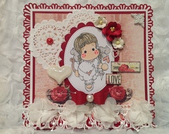 Cupid Angel Tilda Valentine Card