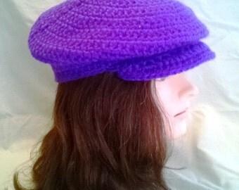Newsboy/ golf style crochet hat
