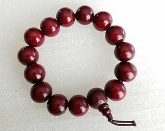 Tibetan Buddhist wood Beads Prayer Mala Wood Bracelet