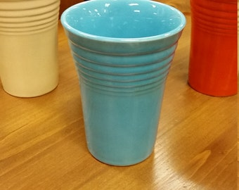 Original Fiesta Fiestaware water tumbler cup turquoise homer laughlin hlc