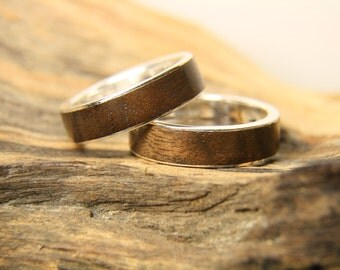Wooden Wedding Rings, GreenWood Wooden Bands Wood rings