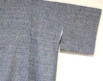 A kimono of the pongee. Pure silk fabrics. Gray