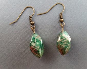 Gold and Green Drops