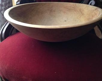 Antique   Primitive Treen Wooden Dough Bowl or Chopping Bowl