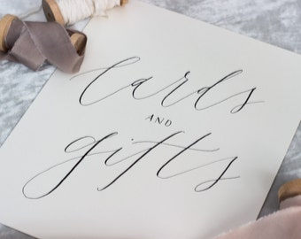 Modern Calligraphy Wedding Sign