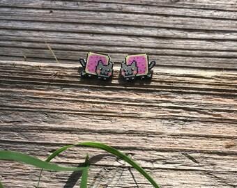 Nyan Cat Stud Earrings
