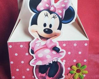 Minnie Mouse Mini Gable Boxes Gable Boxes Mini Mouse Favor Boxes Candy Boxes Set of 10