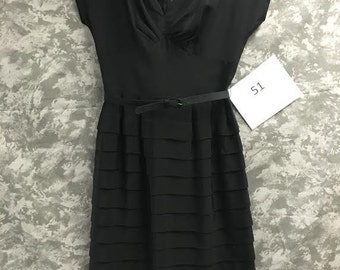 1950's Black Tiered Dress