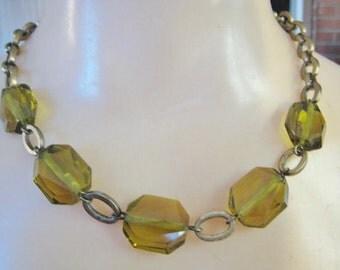 Plastic & Metal Necklace