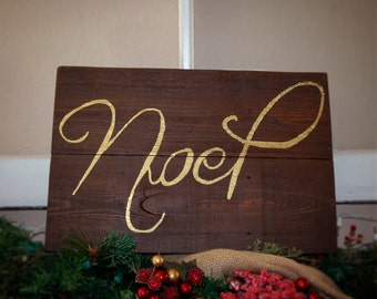 Noel Barn Wood Hand-Painted Sign - 16x10