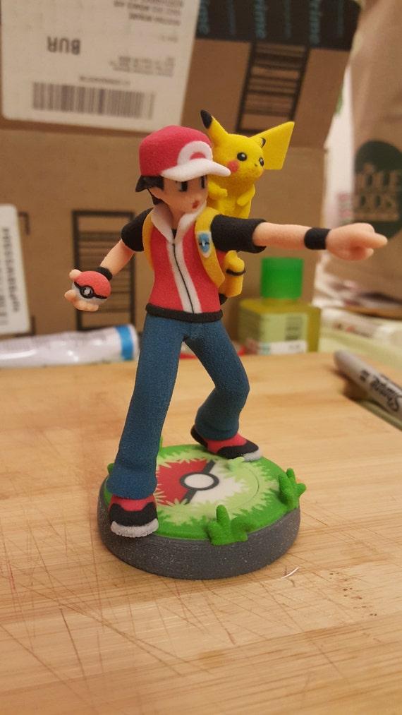 Pokemon Trainer (Boy) amiibo with custom base
