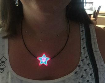glow necklace light up necklace burning man