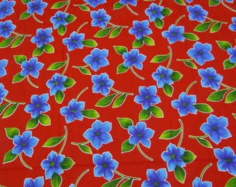 "Red Color Floral Printed Pattern Decorative Pure Cotton Indian Fabric 40""Wide Sewing Crafting Apparel Dress Making Material By 1 Yd ZBC6148"