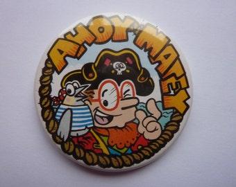 VINTAGE Timmy Mallett Ahoy Matey Pirate badge