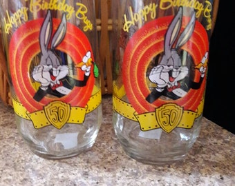BUGS BUNNY 50th Birthday Glasses