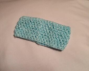 Light Blue Crochet Headband, Light Blue Headband, 2.75 Inch light blue crochet headband, light blue 2.75 inch headband, turquoise headband