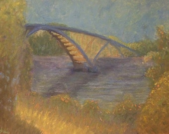 Bridge: Soft pastel painting