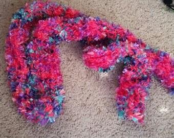 Pink, Purple, Teal scarf