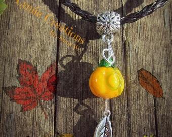 Fall Pumpkin Necklace