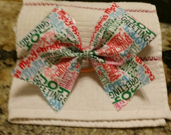 Christmas Sayings - Christmas - cheer bow - limited quantities