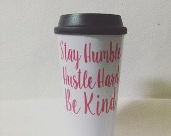 Custom Text Coffee Travel Mug