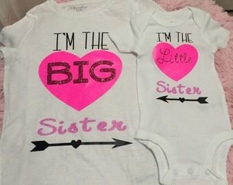 Matching Big sister,Little sister shirt/onesie Set!